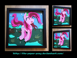 12x12 Wet Mane Pinkie Pie Shadowbox by The-Paper-Pony
