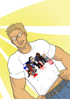 Jensen has weird t-shirts by 00-TabulaRasa-00