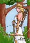 Artemis Sketch Card - Classic Mythology II by ElainePerna