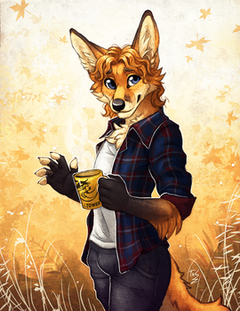 Friendly Fox Fella by TasDraws