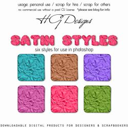 Satin Photoshop Styles by HGGraphicDesigns
