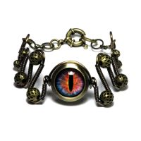 Steampunk Fire Dragon Eye Bracelet by CatherinetteRings