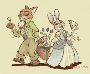 Zootopia and the Scarlet Pimpernel by dreamholde