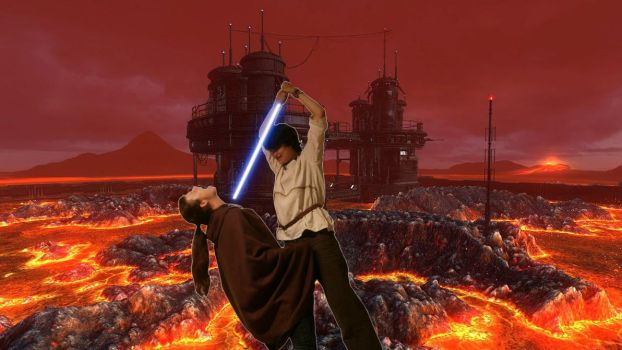 Duel on Mustafar by Papaja17