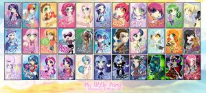 Chibi Set - My Little Pony by MegzieSassypants