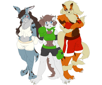 Melody, Leila and Rolf - Boxing buddies by serpenttao04