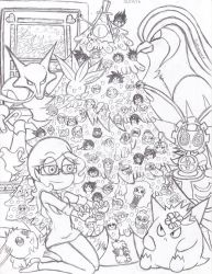 Merry Christmas From Suemoons (uncolored) by Suemoons