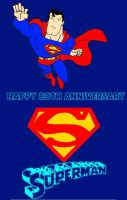 Superman 80th Anniversary by mrentertainment