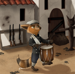 Mexican Drummer Raccoon - by KungFuFreak07 by DrummerMax64