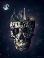 Scull In The Space 2 by GHOSTciu