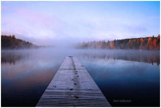 Misty lake.. by closer-to-heaven