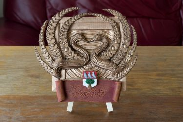 Swans/Family Crest Relief Sculpture by AntonioBalicevic