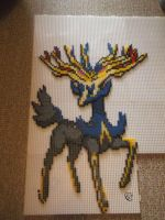 Xerneas Perler beads Commission