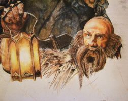 Dwalin Watercolour Portrait - WIP by CurlyWurly808