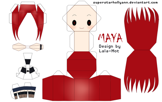 DTB OC Chibi Maya Papercraft by superstarhollyann