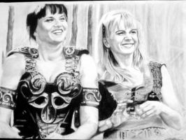 Xena and Gabrielle by ktbgreat2