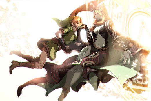 link and midna by muse-kr