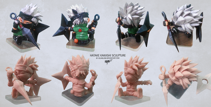 Hatake Kakashi Sculpture by KejaBlank