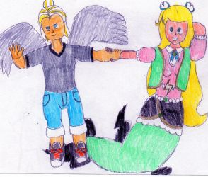 Aaron and Phoebe in the Sky by DBCDude01
