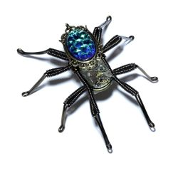 Steampunk Clockwork Spider Lapel pin by CatherinetteRings