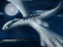 Lugia on iPad by Neon-Juma