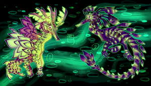 (closed) Seahorse Seadragons 2 by The-Monster-Shop
