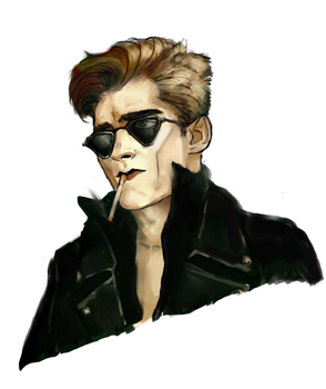 [Collab] Andrew Eldritch Portrait by sanguinarydandy