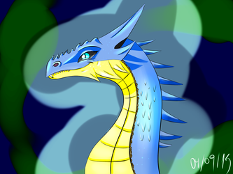 :Request: The Blue Beauty by DragonikHelix