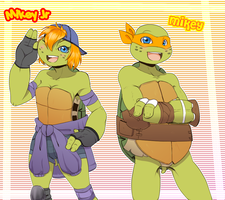 Mikey Jr and Mikey by KameBoxer