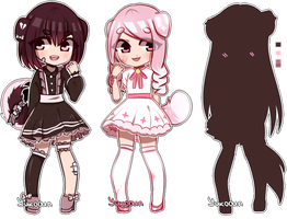 |auction-closed| dark and bright girls by Yuko-n