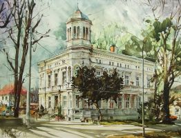 Dzierzoniow, Villa on the Swidnicka Street by PawelGladkow