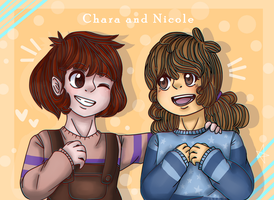 Chara and Nicole [art trade] by Aikaruii
