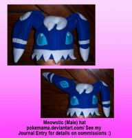 Meowstic Male hat by PokeMama