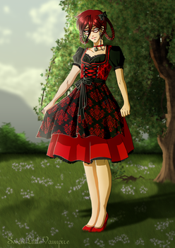 Dirndl Ladies: Grell by SweetLittleVampire