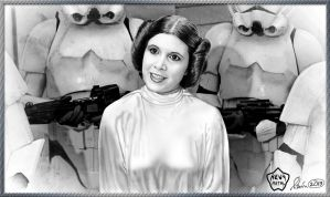 Princess Leia Greets Darth Vader by KevyMetal