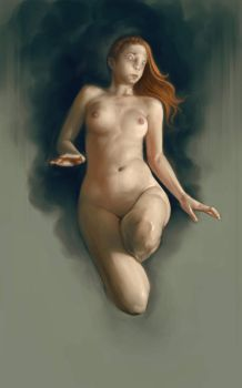 Hovering  Nude by DanielKarlsson