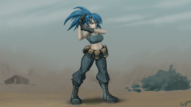King of Fighters - Leona by foolyguy
