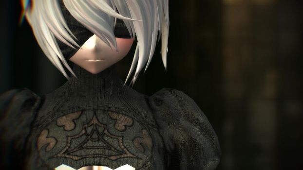 MMD - 2B Realistic Clothes Material Render by YukiMaou