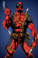 Deadpool Close Up by pascal-verhoef