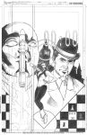 Steed and Mrs Peel Issue Three Cover Pencils by DrewEdwardJohnson