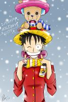 One Piece Holiday Snow by Smudgeandfrank