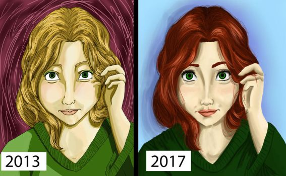 Kiera Then and Now by toyas-world