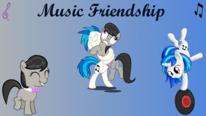 Wallpaper Music Friendship by Barrfind