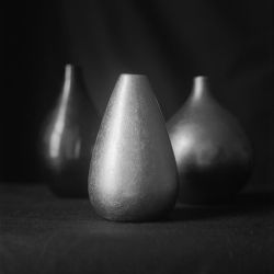 Three vases on black by ninereeds-DA