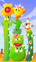 Kirby Cacti by MixedUpMagpie