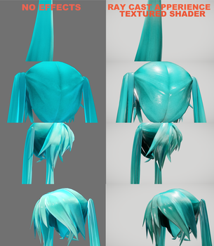 RayCast Hair Shader For Apperience Models by VanillaBear3600