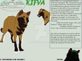 Kifva - Character Reference Sheet (OldArt) by WonderlandTrades