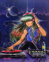 Having An Electro Dance Party by DLNorton