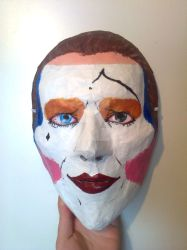 David Bowie Pierrot Mask by Kuromizuri2
