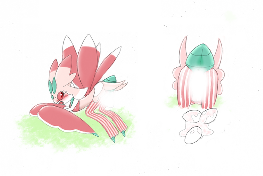 Lurantis Laying Eggs (Censored) by PortableCat